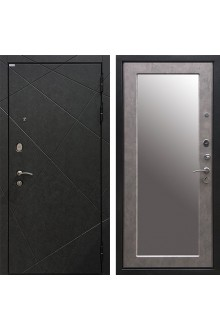 Входная металлическая дверь Ратибор Эстет 3К Зеркало Бетон светлый