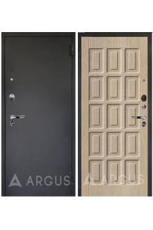 Входная металлическая дверь Аргус Люкс Про Шоколад (черный шелк - капучино)