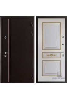 Входная дверь с терморазрывом Норд 2 Лацио Муар коричневый-Слоновая кость