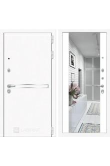 """Входная металлическая дверь Лабиринт Лайн WHITE зеркалом Максимум """"Белый софт"""""""
