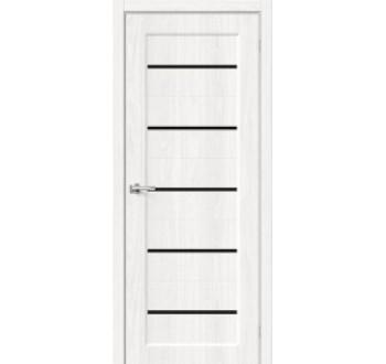 Межкомнатная дверь с экошпоном Мода-22 Black Line White Dreamline
