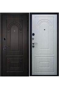 Входная металлическая  дверь дверной Континент  Флоренция венге-беленый дуб