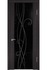 Межкомнатная дверь  экошпон ЛУ-42 (Венге)