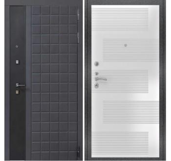 Входная металлическая дверь Luxor 34 ФЛ 185 ясень белый пвх