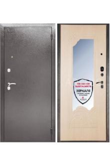 Входная металлическая сейф дверь с зеркалом Аргус ДА-8 Дуб белёный