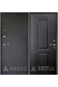 Входная металлическая дверь Аргус Люкс Про Триумф (черный шелк - тисненый венге)