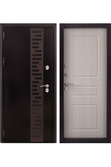 Входная  металлическая дверь с терморазрывом Урал беленый дуб