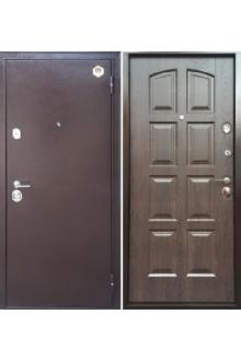 Входная  металлическая дверь Бульдорс 24 new дуб шоколад F-13
