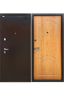 Входная металлическая дверь Форт Люкс Дуб светлый