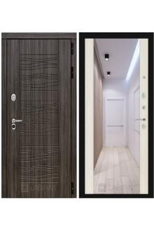 Входная дверь Лабиринт SCANDI с зеркалом сандал белый