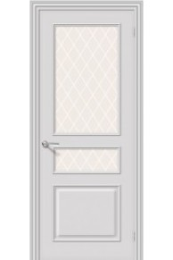 Межкомнатная окрашенная дверь Опера ПО Белый