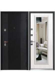 Входная металлическая дверь Бульдорс 44Т new Зеркало лиственница беж