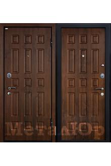 Входная металлическая дверь МеталЮр М3, темный орех