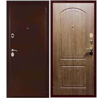 Входная металлическая дверь ЭТАЛОН Дуб Темный
