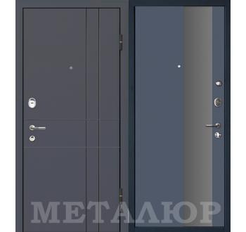 Входная металлическая дверь  МеталЮр М16 антрацит