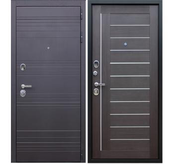 Входная металлическая дверь Дуэт «Орех рифленый»