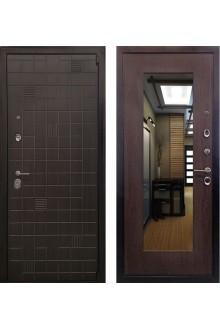 Входная металлическая дверь  Ратибор Силуэт 3К Венге капучино