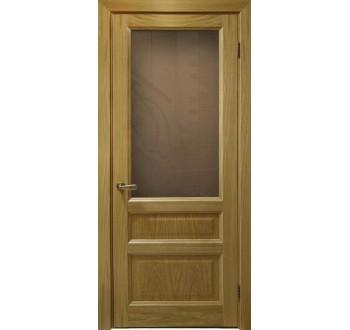 Межкомнатные двери Атлантис-2 (дуб натуральный, стекло)
