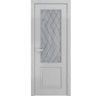 Межкомнатные двери НЕО-1 (ясень манхеттен, стекло)
