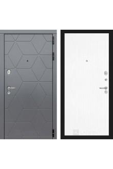 Входная металлическая дверь Лабиринт Cosmo 7 Графит- Белое дерево
