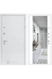 Входная металлическая дверь Лабиринт Трендо Зеркало Максимум Белый софт