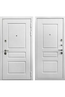 Входная металлическая дверь Ратибор Сноу 3К Белый матовый