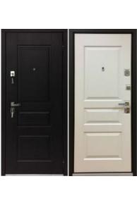Входная  металлическая дверь Бульдорс 45 new Черное- Белое дерево