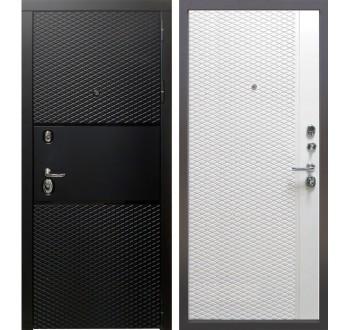Входная металлическая дверь Тефлон Белый снег