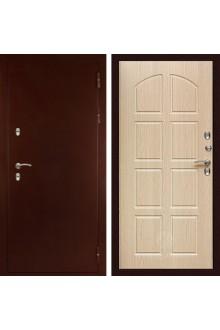 Входная металлическая дверь с терморазрывом Сударь МД-100 Дуб беленый
