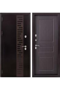 Входная  металлическая дверь с терморазрывом Урал венге