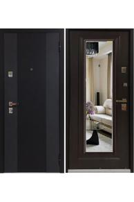 Входная  металлическая дверь Бульдорс 44Т new Зеркало ларче тёмный