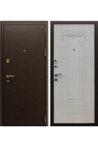 Входная металлическа дверь Триумф NEW беленый дуб