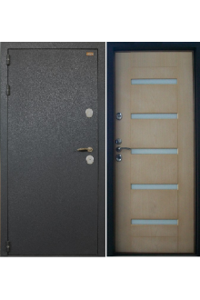 Металлическая  дверь с терморазрывом  Лекс Термо Черный Муар