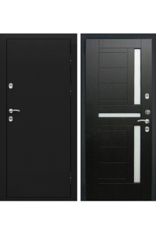 Металлическая дверь с терморазрывом Лекс Термо Черный Муар 12