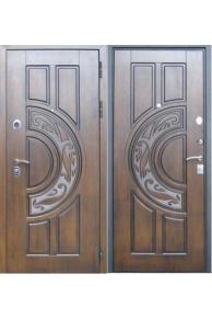 Входная  металлическая дверь Лекс  10 Спартак дуб с патиной