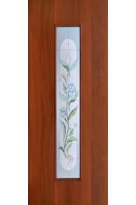 Межкомнатная дверь Ламинированная Витраж Итал. орех стекло
