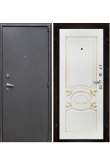 Входная  металлическая дверь Рим  Аристократ белая эмаль