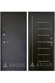 Входная металлическая дверь Аргус Люкс Про Фриза (черный шелк - тисненый венге)