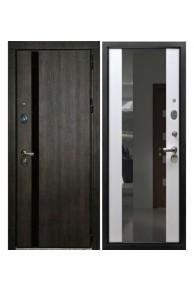 Входная металлическая дверь Снедо  Премьер Тиковое дерево -Эш вайт