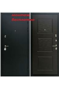 Входная металлическая дверь Ратибор Эверест Венге поперечный
