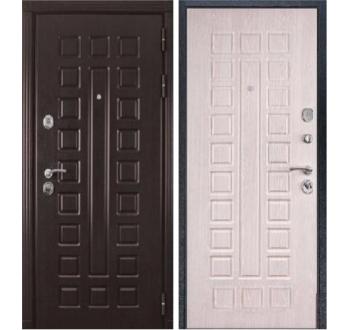 Входная металлическая дверь ZMD Премиум 183 Венге-Белая сосна