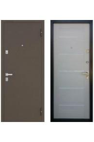 Входная металлическая  дверь  Бульдорс-13 P new царговый беленый дуб