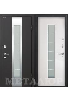 Входная металлическая дверь МеталЮр М35 белый малибу