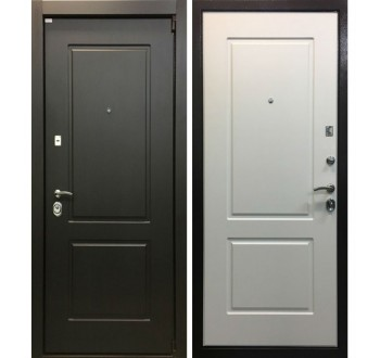 Входная металлическая дверь Ратибор Барьер 3К венге/белый ясень