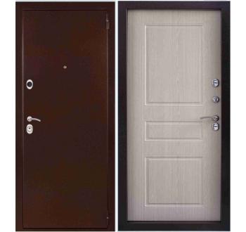 Входная металлическая дверь ЭТАЛОН Дуб Беленый