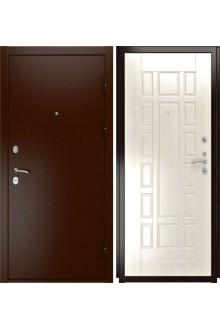 Входная металлическая дверь Luxor-3a (ПВХ, беленый дуб)