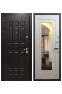 Входная металлическая дверь Армада Стандарт 16 дуб беленый (зеркало)