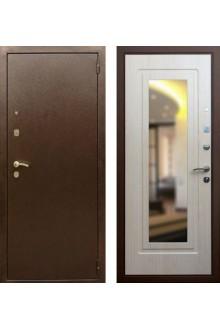 """Входная  металлическая дверь Rex 1А с зеркалом """"Беленый дуб"""""""