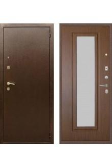 """Входная металлическая дверь Rex 1А с зеркалом """"Орех тисненый"""""""