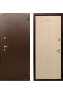 """Входная металлическая дверь Rex 1А Хром """"Беленый дуб"""""""